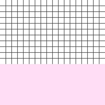 Black Grid On White Above Girly Pink by rewstudio