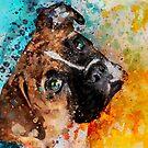 Custom dog Portrait by Nora Gad