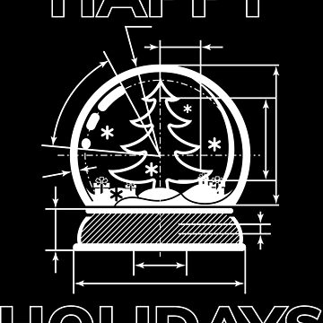 Snow globe blueprint | Christmas deco gift by anziehend