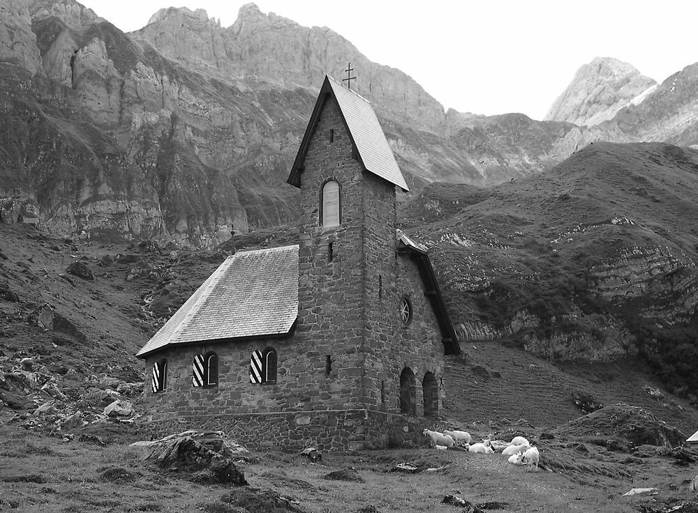 Alpine Church by Christian Langenegger
