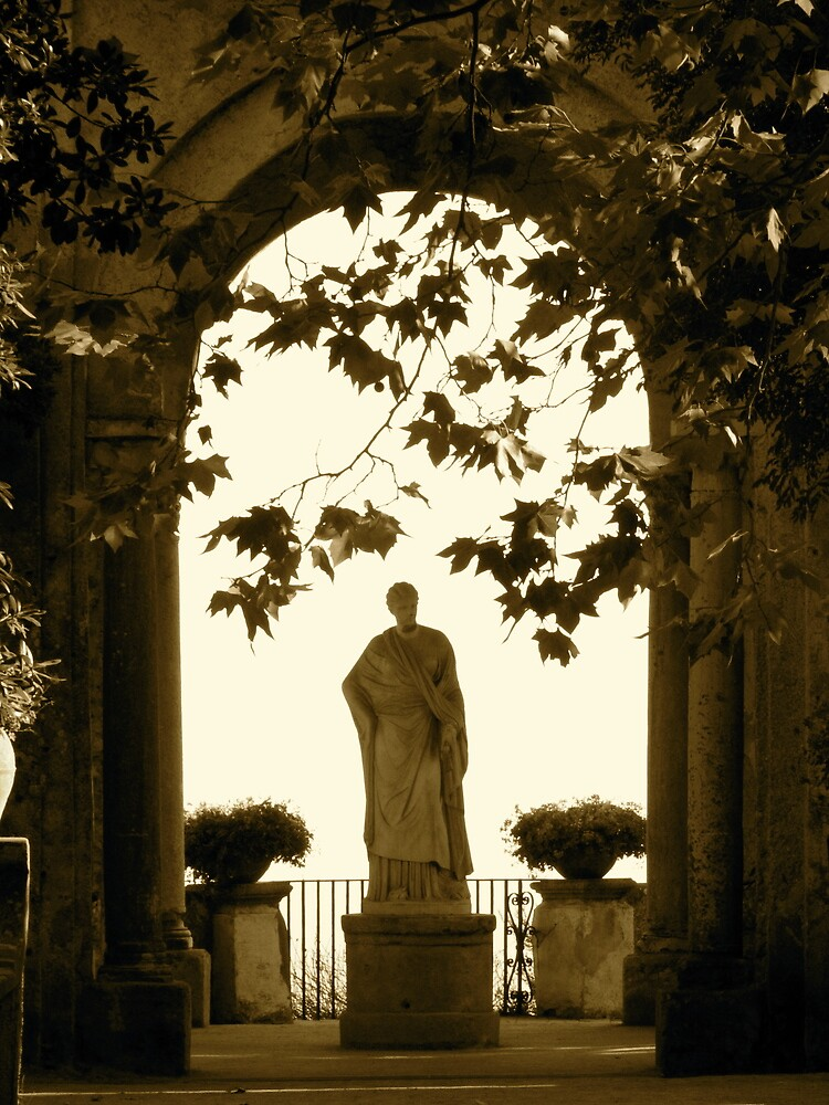 Ravello Goddess at sunset by Christian Langenegger