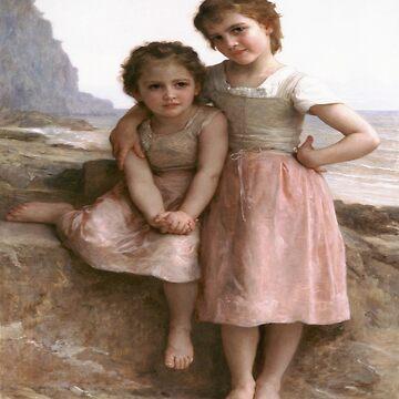 On Greve(Sur la Greve)-William Adolphe Bouguereau by LexBauer