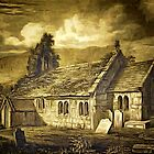 The Old Church of St Lawrence, Isle of Wight 12th century by Dennis Melling