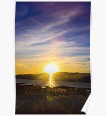 Sundown and Blue Skies Poster