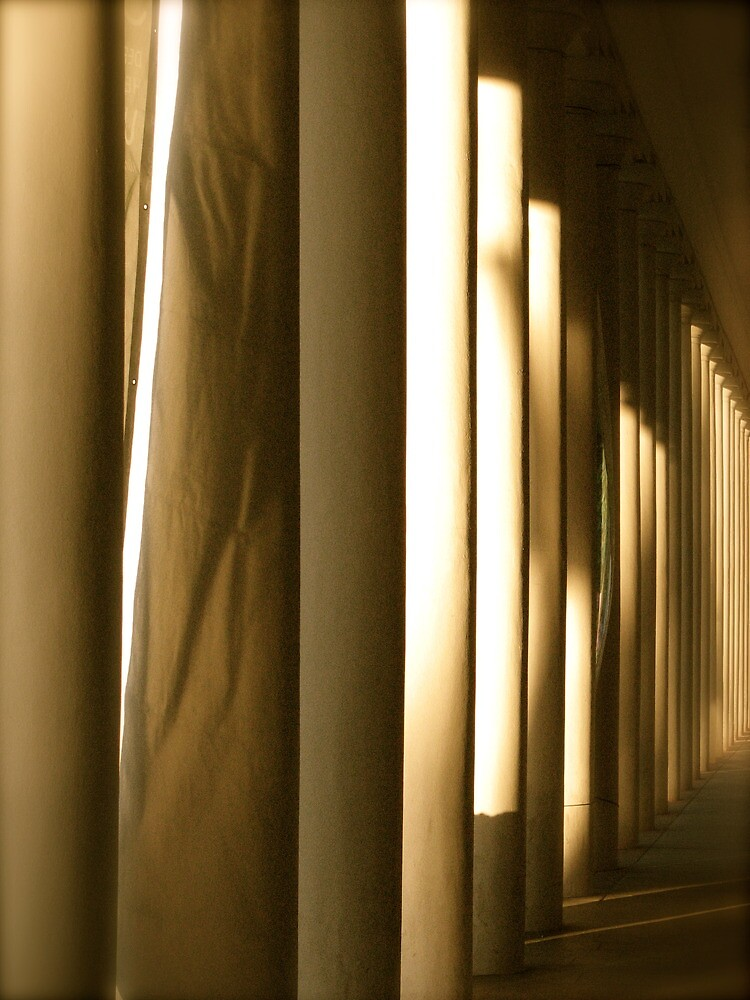 Pillars in Wiesbaden by Christian Langenegger