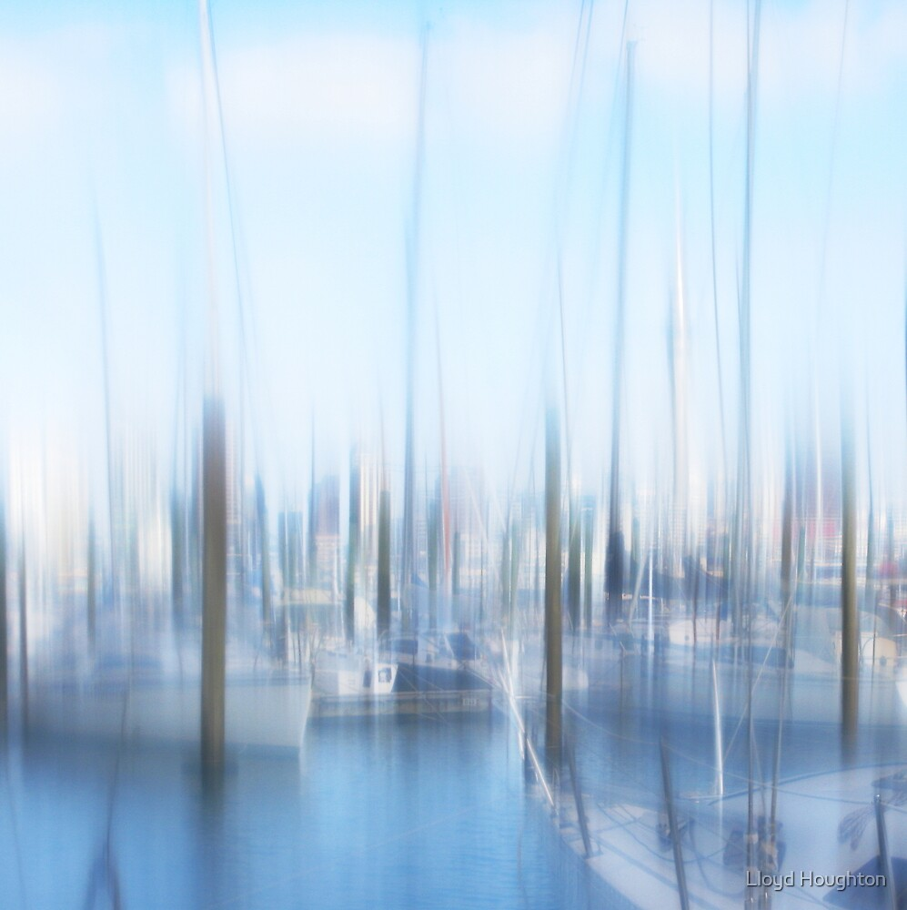 Sky Tower Hiding In The Marina by Lloyd Houghton