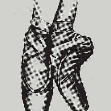Ballerina Ballet Shoes Art   Cool Toe Dancing Design Gift by NBRetail