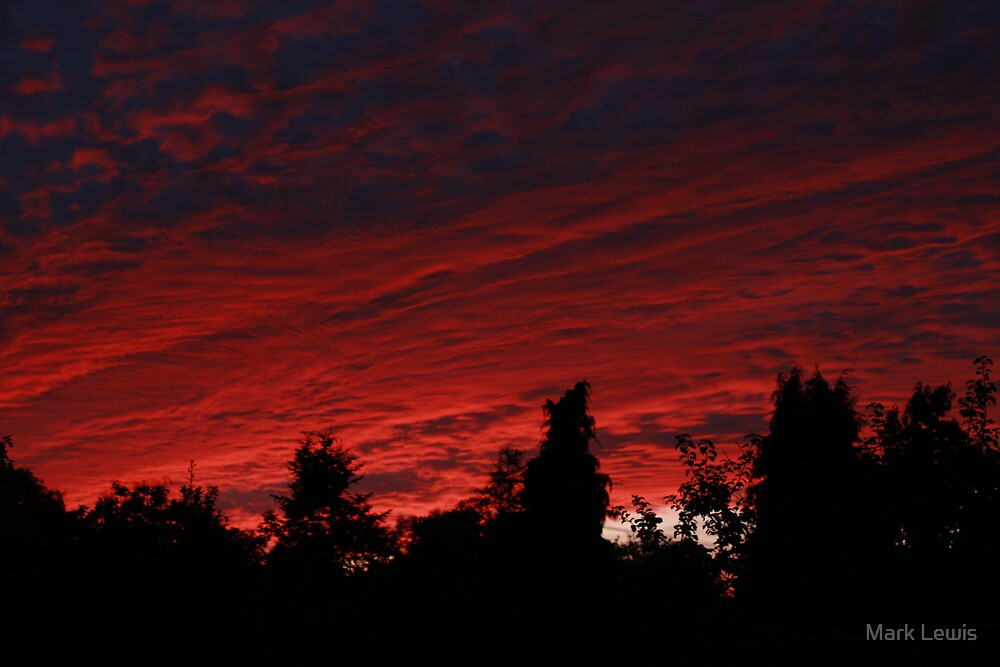 Fiery sunset by Mark Lewis