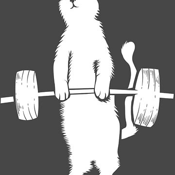 Cat Deadlift Art   Cool Love Weight Trainers Design Gift by NBRetail