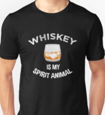 Whiskey Lovers Gift Whiskey Is My Spirit Animal Unisex T-Shirt
