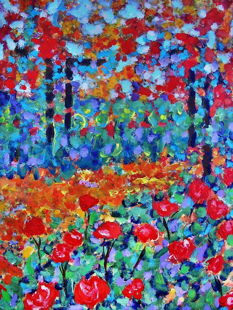 The Rose Garden 3. by Richard  Tuvey