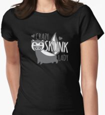 Crazy SKUNK Lady Women's Fitted T-Shirt
