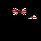 Holiday Bow The United Kingdom Flag Gift by Reutmor