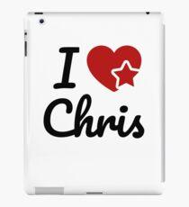 I love Chris Artwork iPad Case/Skin