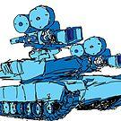 Blue camera tank  by Juhan Rodrik