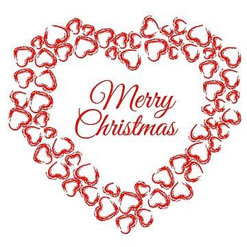 Christmas Heart Wreath by amelislam
