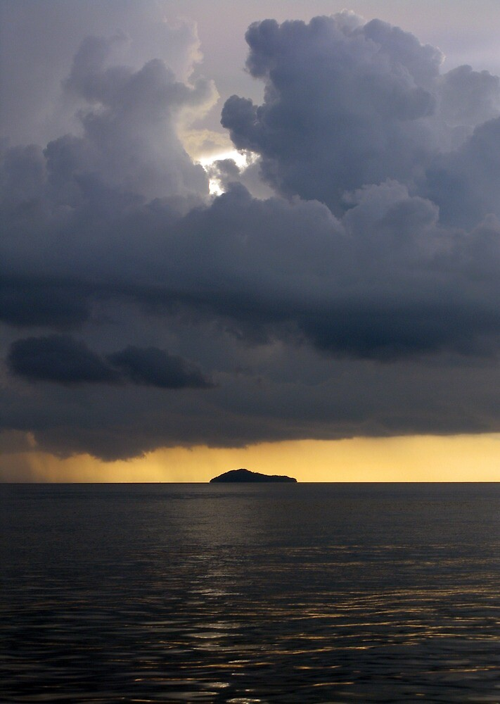 Squall over Dadda Hai Island by Reef Ecoimages