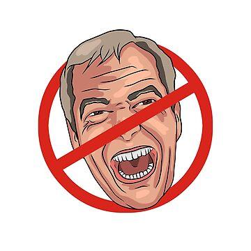 Nigel Farage No Road Sign Illustration by MelancholyDoll