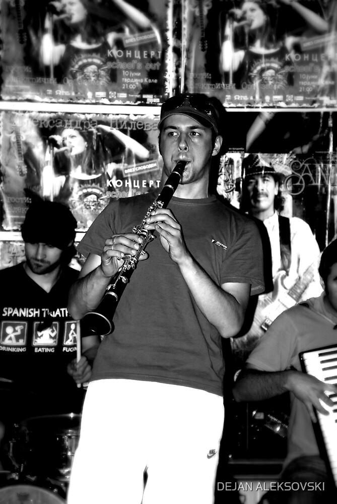 Street musician by DEJAN ALEKSOVSKI