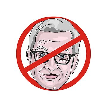Michael Gove No Road Sign Illustration by MelancholyDoll