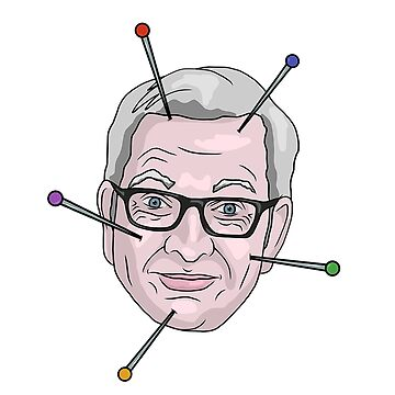 Michael Gove Voodoo Doll Pin Illustration by MelancholyDoll