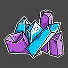 Kawaii Cute Crystals by Fiona Reeves
