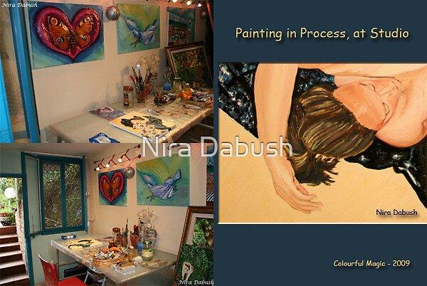 At the Studio - Oct, 21, 09 by Nira Dabush
