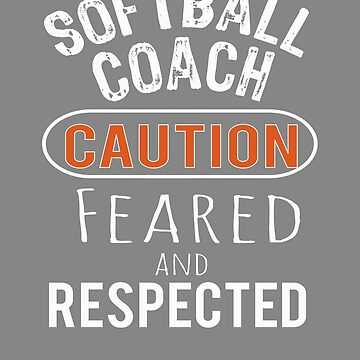 Scary softball Coach Gift Design by LGamble12345