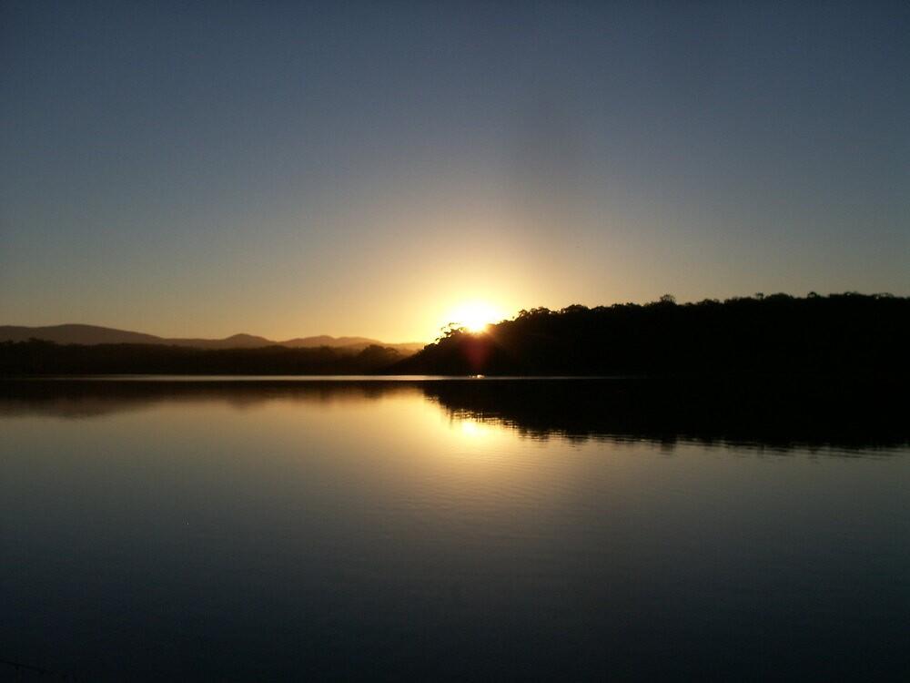 Still water Sunset by Vonnstar