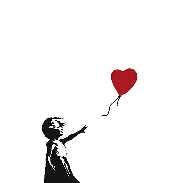 Banksy Girl With Balloon, Love is in the Bin by RFive