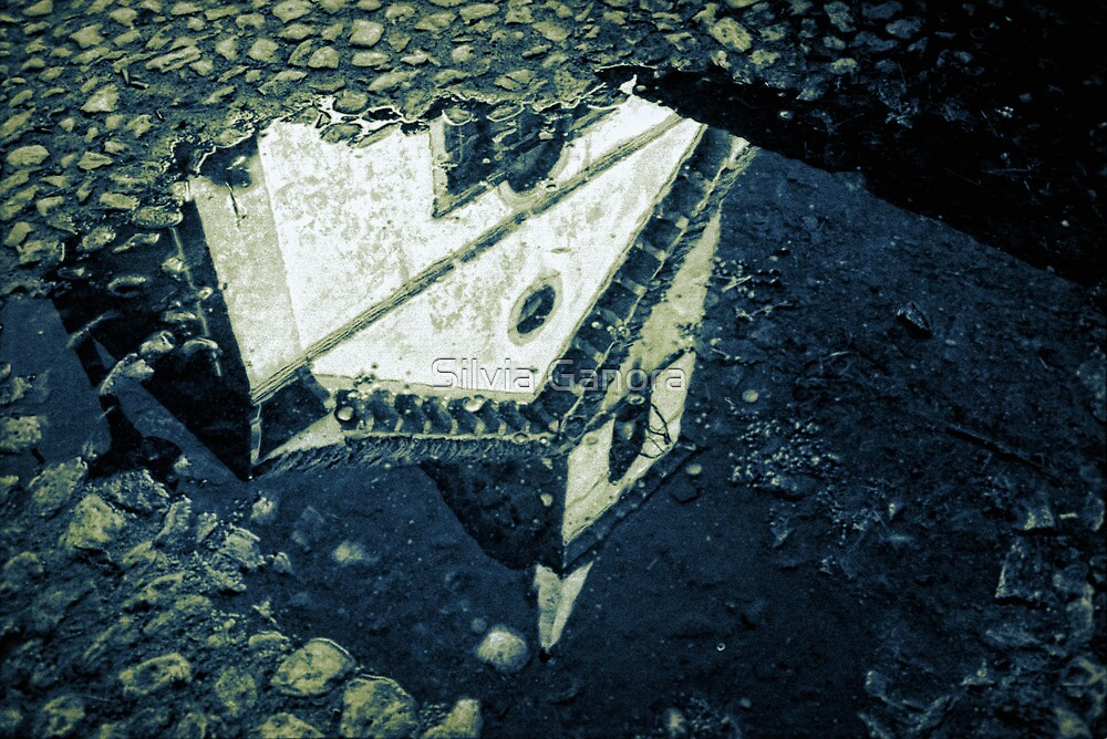 Church reflection in a pool by Silvia Ganora