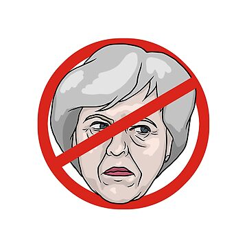 Theresa May No Road Sign Illustration by MelancholyDoll
