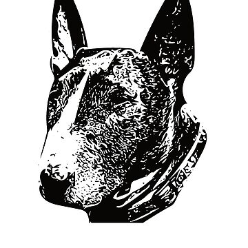 Bull Terrier Face Design - A Bully Christmas Gift by DoggyStyles