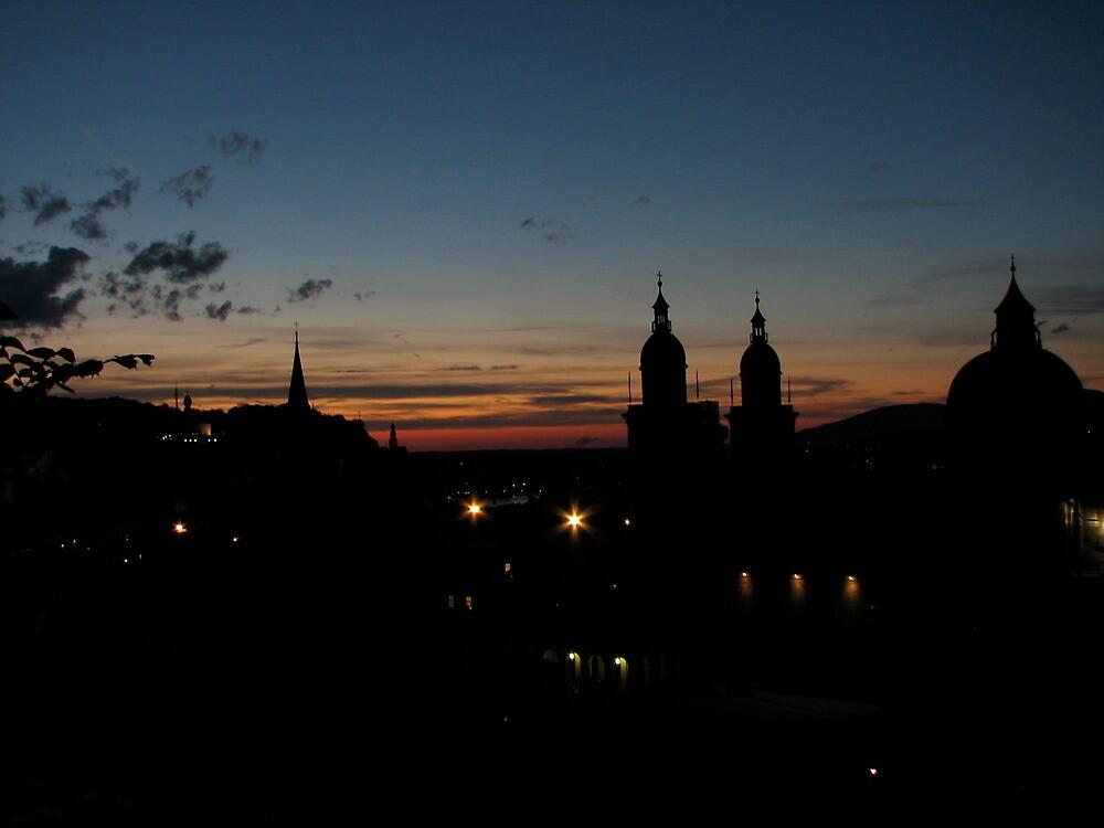Salzburger evening skyline by Christian Langenegger