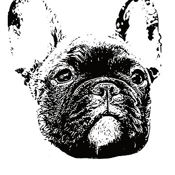 French Bulldog Face Design - A Frenchie Christmas Gift by DoggyStyles