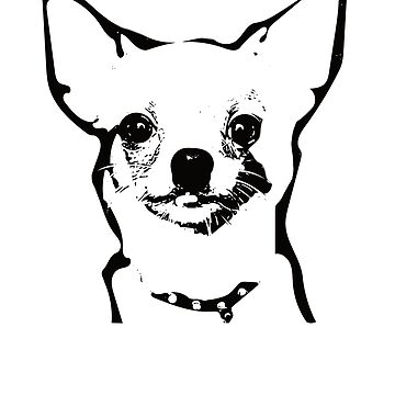 Chihuahua Face Design - A Chihuahua Christmas Gift by DoggyStyles
