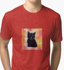 Bild schwarze Katze Vintage T-Shirt