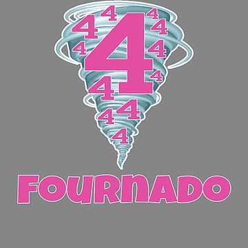 Cute funny fourth birthday fournado girls Design by LGamble12345