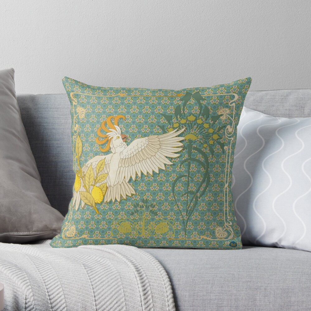 Coussin « Hoopoe Parrot and Citrus»