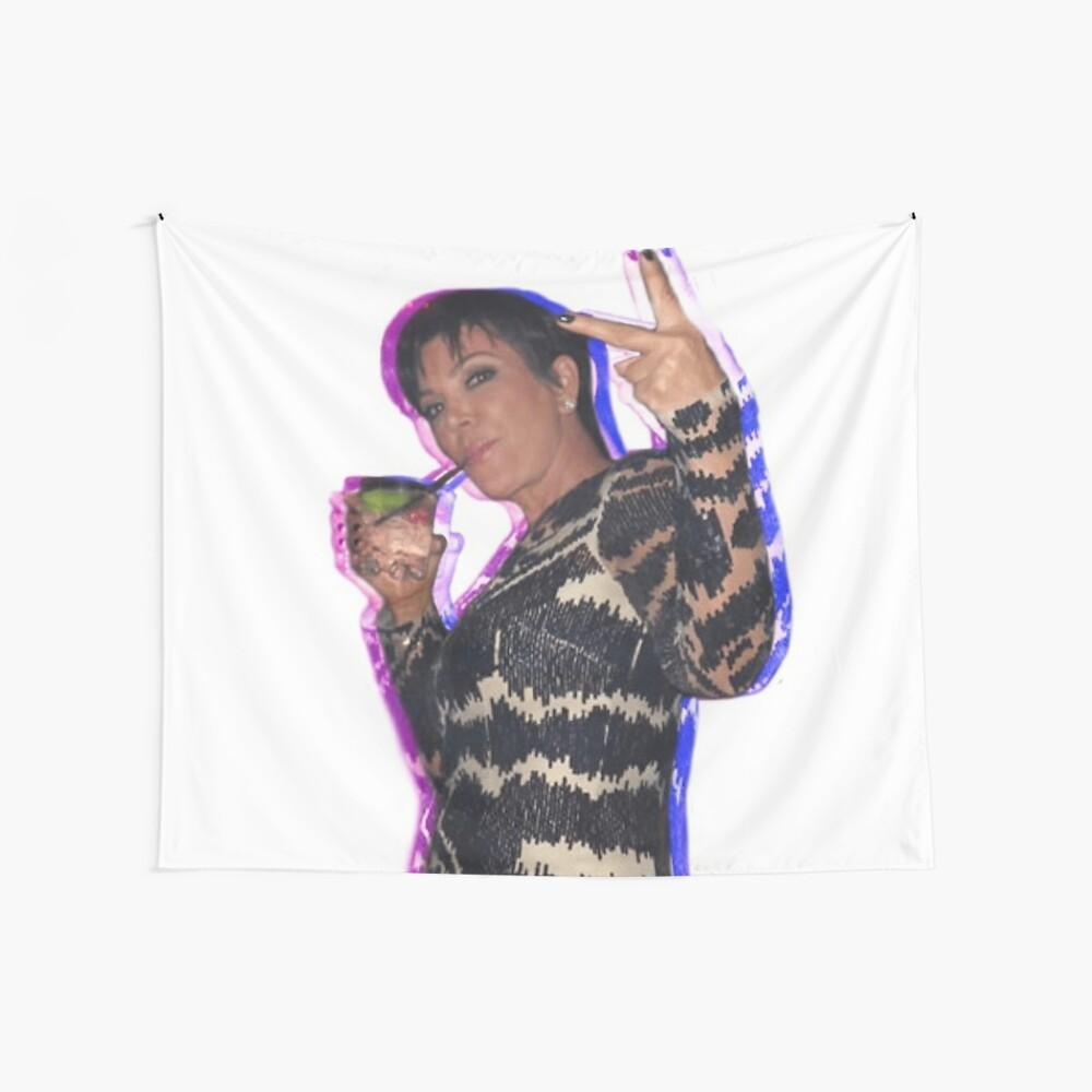 Trippy Kris Jenner Wall Tapestry