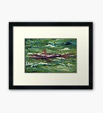 Red Shark Number One Framed Print