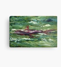 Red Shark Number One Metal Print