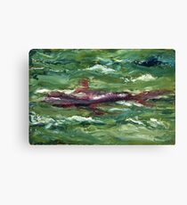 Red Shark Number One Canvas Print