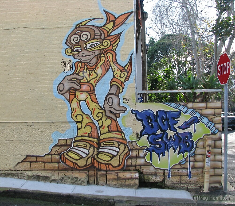 Alien Visitor from far away Melbourne (Phibs) by Jeffrey Hamilton