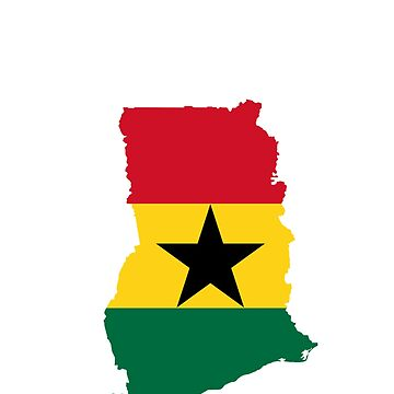 Ghana Flag Map by cnkna