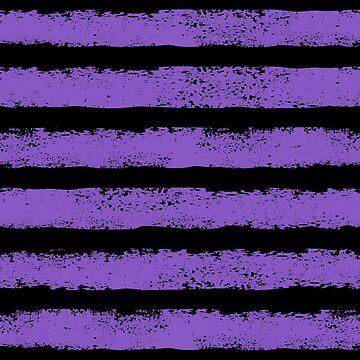black and purple splatter stripe by B0red