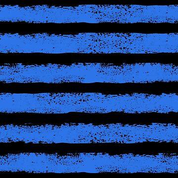 blue and black splatter stripe  by B0red