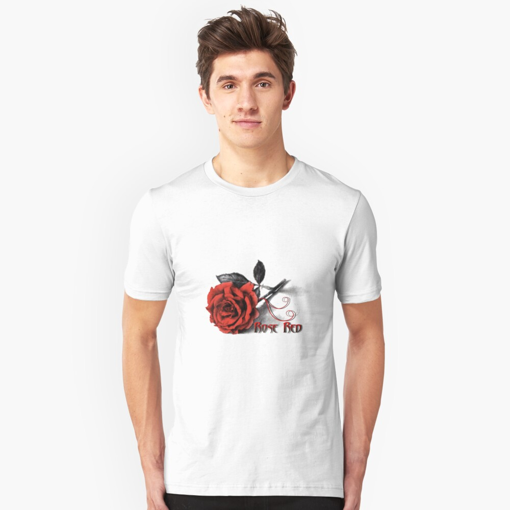 Rose Red - Simply Elegant  Unisex T-Shirt Front
