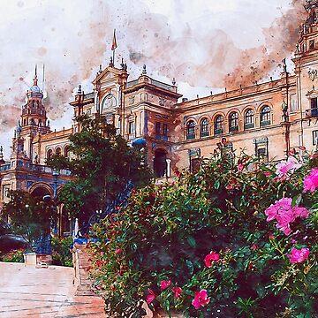 Plaza de Espana, Seville by ErianAndre