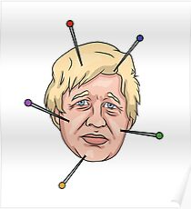 Boris Johnson Voodoo Doll Pin Illustration Poster